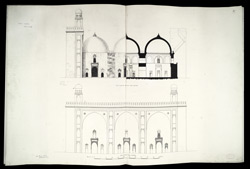 Dholka, Gujarat: Khan Masjid cross section